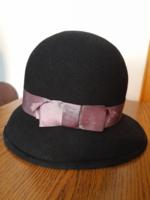 Retro régi fekete női kalap