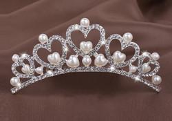 Esküvői, menyasszonyi, alkalmi hajdísz,tiara, fátyol tartó ES-HF04