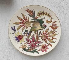 Gyönyörű,hatalmas fali tàl kínáló nak,Papagàly,viràgok csodálatos festés.Asztalközép kínáló