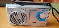 Régi retro rádió - FAIR AM-FM radio model :11306 portable radio kofferradio