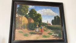 Háromházi Ferger Ferenc óriási festménye 1932