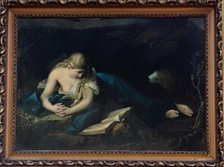 Pompeo Girolamo Batoni festőművész – Bűnbánó Magdalena című festményének olajnyomata – 127.