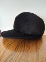 Retro régi fekete sildes női kalap