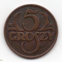Lengyelország 5 lengyel groszy, 1925