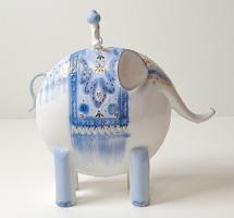 Extrém ritka :) aquincumi elefánt kis gazdájával  /porcelán figura