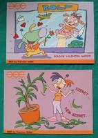 2 darab telefonos reklám képeslap,Pannon GSM,postatiszta