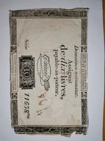 "10 livres 1792! A ""nagy "" francia forradalom bankjegye!"