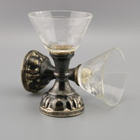Ritka Antik Pálinkás pohár , Vintage lövéses / likőrös poharak  , Shot Glasses