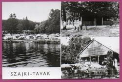 B - 035 - - - Posta tiszta magyar képeslap (nyomda-friss állapotban ) Szajki-tavak