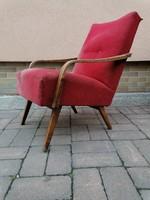 JAROSLAV ŠMIDEK tervezte,Mid century design 1db csehszlovák fotel 1962,nagyonjó dizájn,restaurálásra