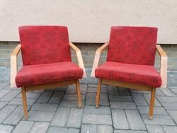2 darab Mid century design csehszlovák fotel 1968,friss dizájn,könnyű kecses darab,ujjávarázslásra