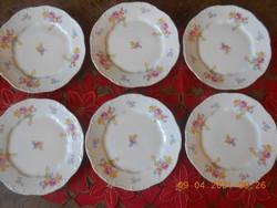 Zsolnay porcelán süteményes tányér készlet