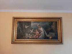 Szentes témájú kép aranyozott fa keretben