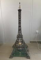 """""""Üdvözlet Párizsból"""" Hatalmas 123 cm magas, minőségi Eiffel torony ipari design installáció/lámpa"""