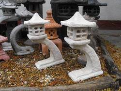Szép 65cm Japán kertépítés i Kő lámpa Feng Shui szikla  kerti tó pagoda műkő szobor