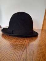 Retro régi fekete női nyúlszőr kalap