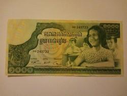 Unc 1000  Riels Kambodzsa 1973  !!  Extra szép !!!