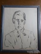 Orbán Dezső :   fiatal ffi portréja