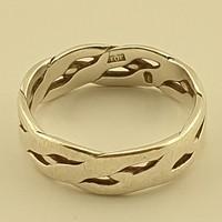 Esküvői ezüst gyűrű, Vintage gyűrű