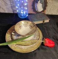 Aranyozott Bavaria RKW reggeliző porcelán szett