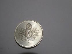 Tízéves a Forint 1956 sorozat, 10 Forint, 1956-os kiadás / 10 éves évforduló/ ezüst érme
