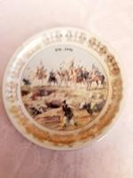 Zsolnay  csata  jelenetes fali  tányér