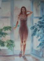Csomor jelzéssel: Nő fürdőruhában