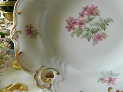 Szépséges Weimar porcelán tál, tányér áttört mintával