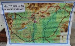 Nagy falitérkép / Magyarország domborzata és vizei