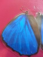 Irizáló pillangószárny ezüst fülbevaló