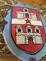 Régi kézzel festett eredeti nagy Budapest címer tábla eladó!Ara:11.000.-