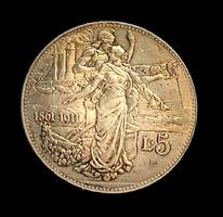 5 Líra   Vittorio Emanuele III   Királyság évfordulója