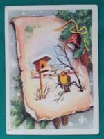 Régi zágrábi karácsonyi képeslap,futott