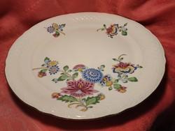 Gyönyörű virágmintás porcelán nagy kerek kínáló tál