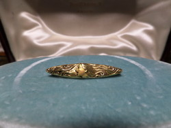 Szecessziós arany bross / kitűző / tű