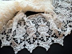 Díszes pamut csipke szalag vitrázs,ruha,terítő,függöny... 10 MÉTER !!!!