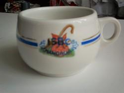 Leveses vagy teás csésze, vastag falú vonat és hajóbiztos
