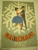 Új évi Táncalbum 1962 kották operettek daljátékok zeneműkiadó