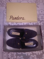 Retro olasz női cipő PANDORA - fekete, 39-es