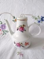 Német, virágos, rózsás porcelán kanna
