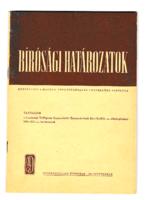 Bírósági határozatok 1973. szeptember - 21. ÉVFOLYAM, 9. SZÁM