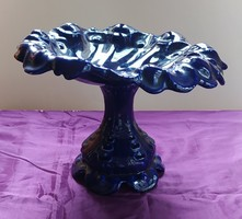 Régi kerámia gyümölcs kínáló - 25 cm. magas - 35 cm. átmérő