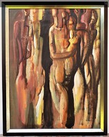 Ismeretlen kortárs művész 60x45 festmény