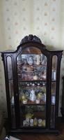 Antik tükrös vitrin