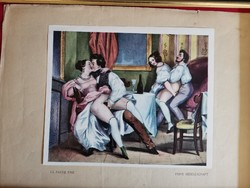 Deveria Henry Victor 1829-1897 bider erotikus litográfia sorozat egy egy darabjai!!!! Nagyon ritkák!