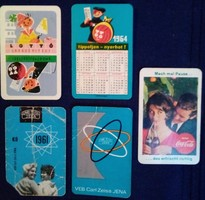 Kártyanaptárak; kisnaptárak 1961-1966