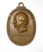 Goethe jubileumi bronz emlékérem 1932,Frankfurti kórusfesztivál.