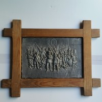 Rembrant: cast metal, night patrol from paint