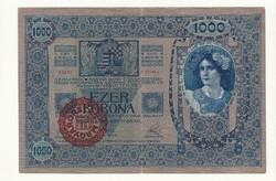 1000 korona 1902 bankó papírpénz bankjegy a régi szép időkből békebeli darab