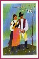 *E - 0036 - - - Irredenta (reprint) képeslap - Külhoni népviselet,  Udvarhely-Marosszéki